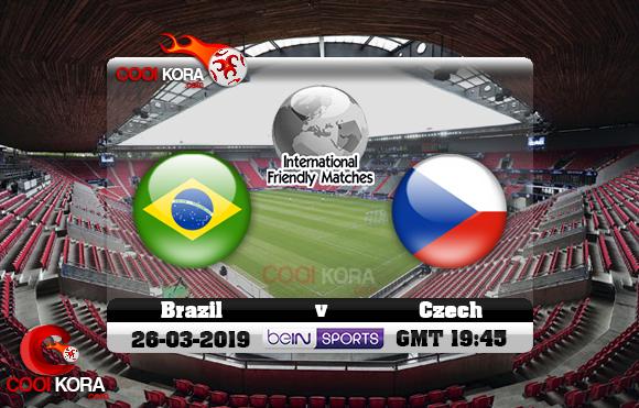 مشاهدة مباراة التشيك والبرازيل اليوم 26-3-2019 مباراة ودية
