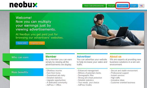Neobux регистрация