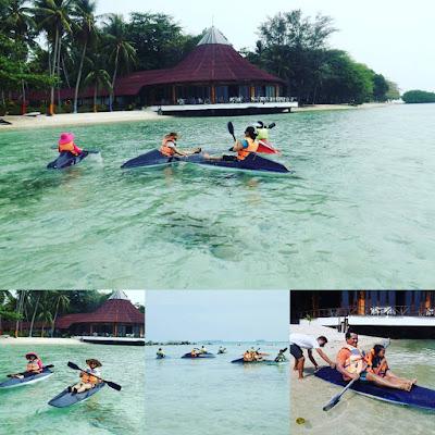 foto bermain kano di pulau pantara