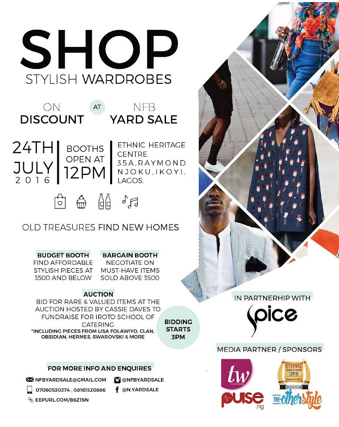 Shop From Stylish Wardrobes On Discount, And Bid For Good At NFB Yard Sale