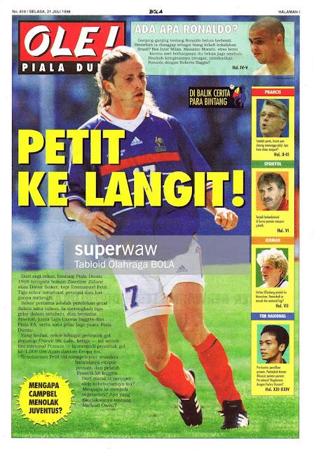 EMMANUEL PETIT FRANCE WORLD CUP 1998
