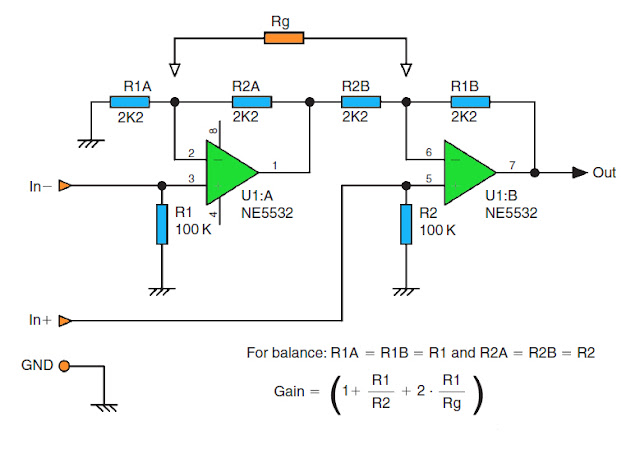 High impedance balance output circuit