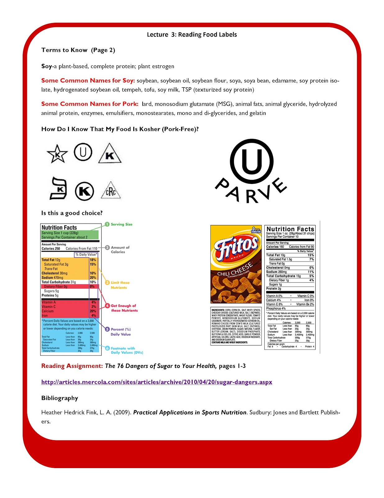 The Science Of Nutrition Nutrition 101 Reading Food Labels