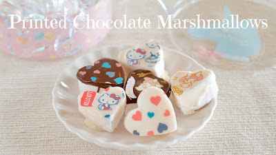 Homemade Printed Chocolate Marshmallows