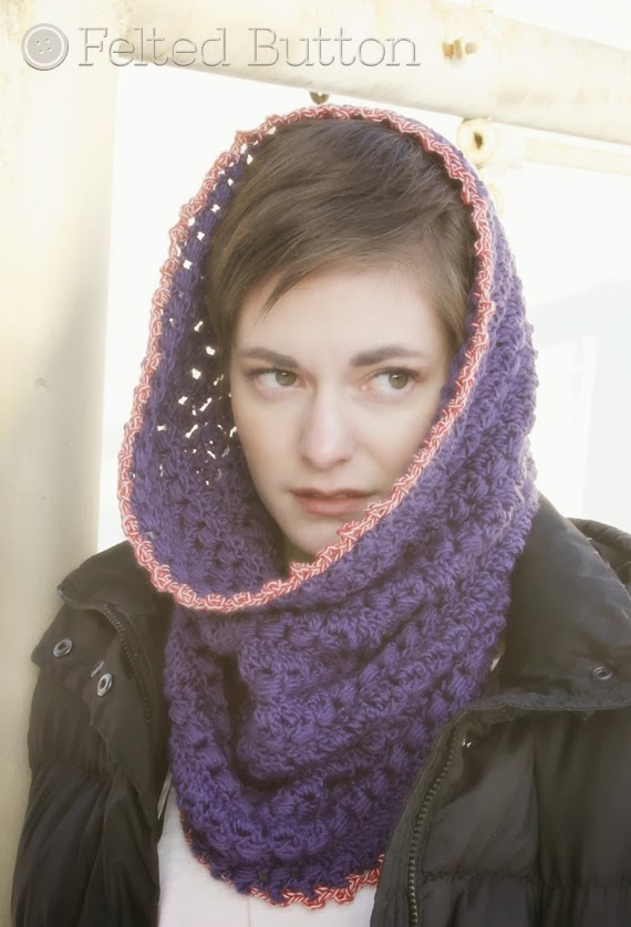 Cwtch Cowl and Hood Crochet Pattern by Susan Carlson of Felted Button