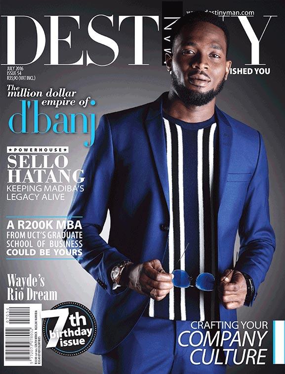 D'banj looks dapper on frontpage of Destiny Magazine