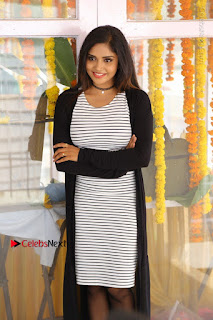 Telugu Actress Karunya Chowdary Stills in Black Dress at Soda Goli Soda Movie Opening  0321.JPG