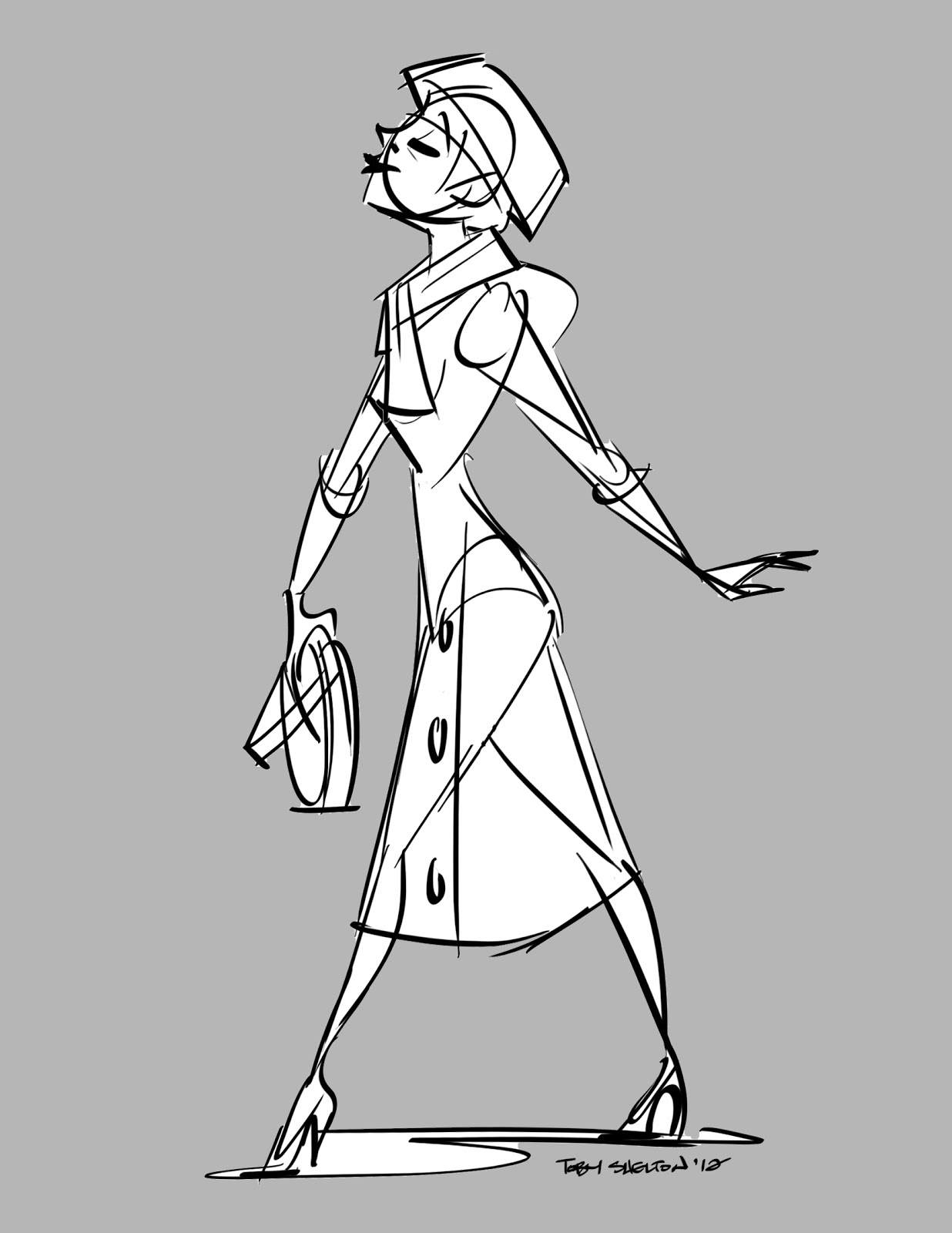 The Animation Woodpile: Park Ave. Woman Walking