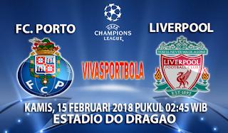 Prediksi FC Porto vs Liverpool 15 Februari 2018