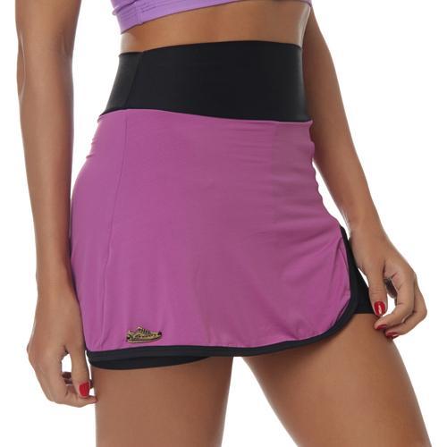 Saia-Short esportivo sawary fitness tênis tatá violeta preto