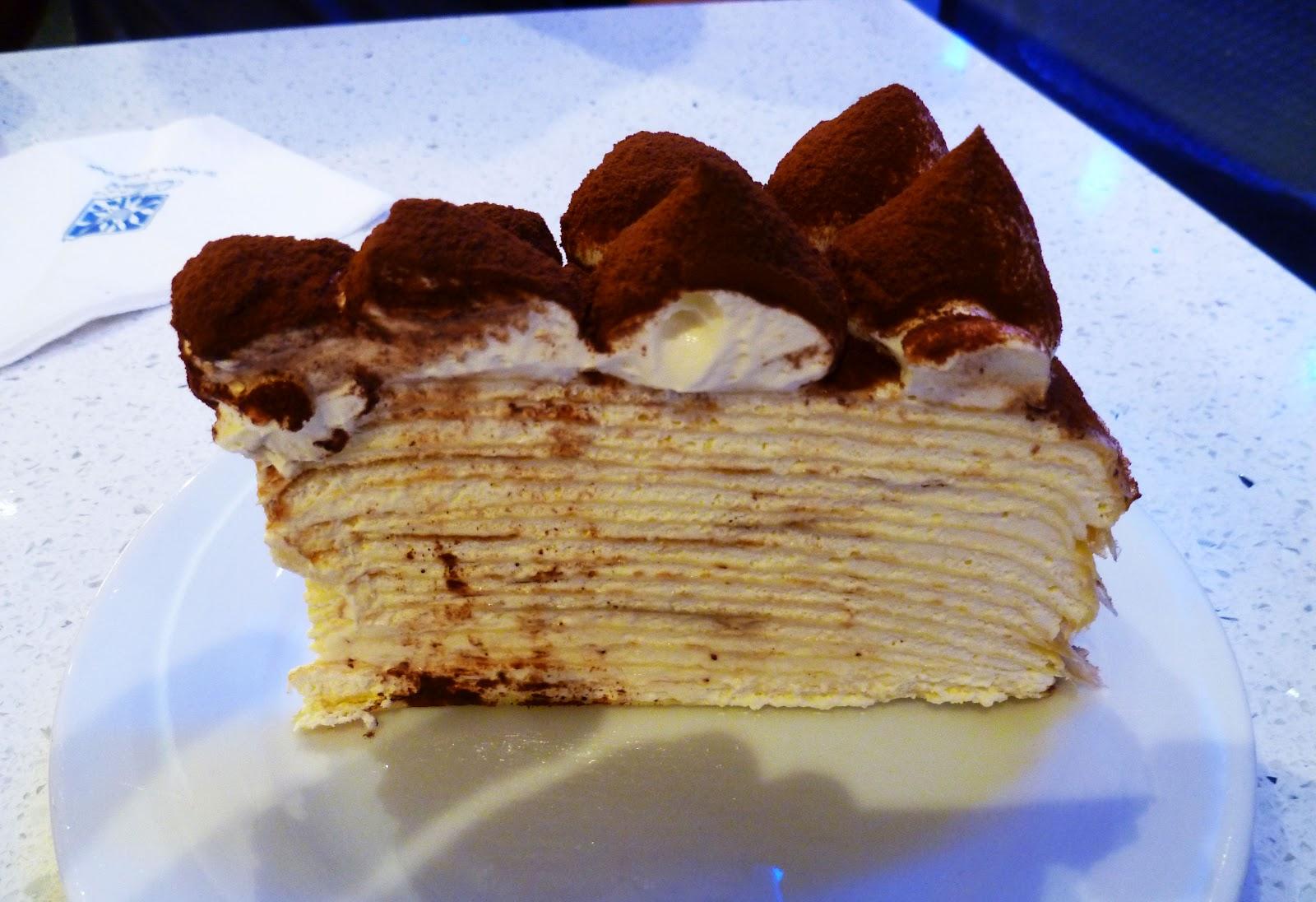 Tiramisu Mille Crepe Cake, Nadeje Patisserie | Confused Julia