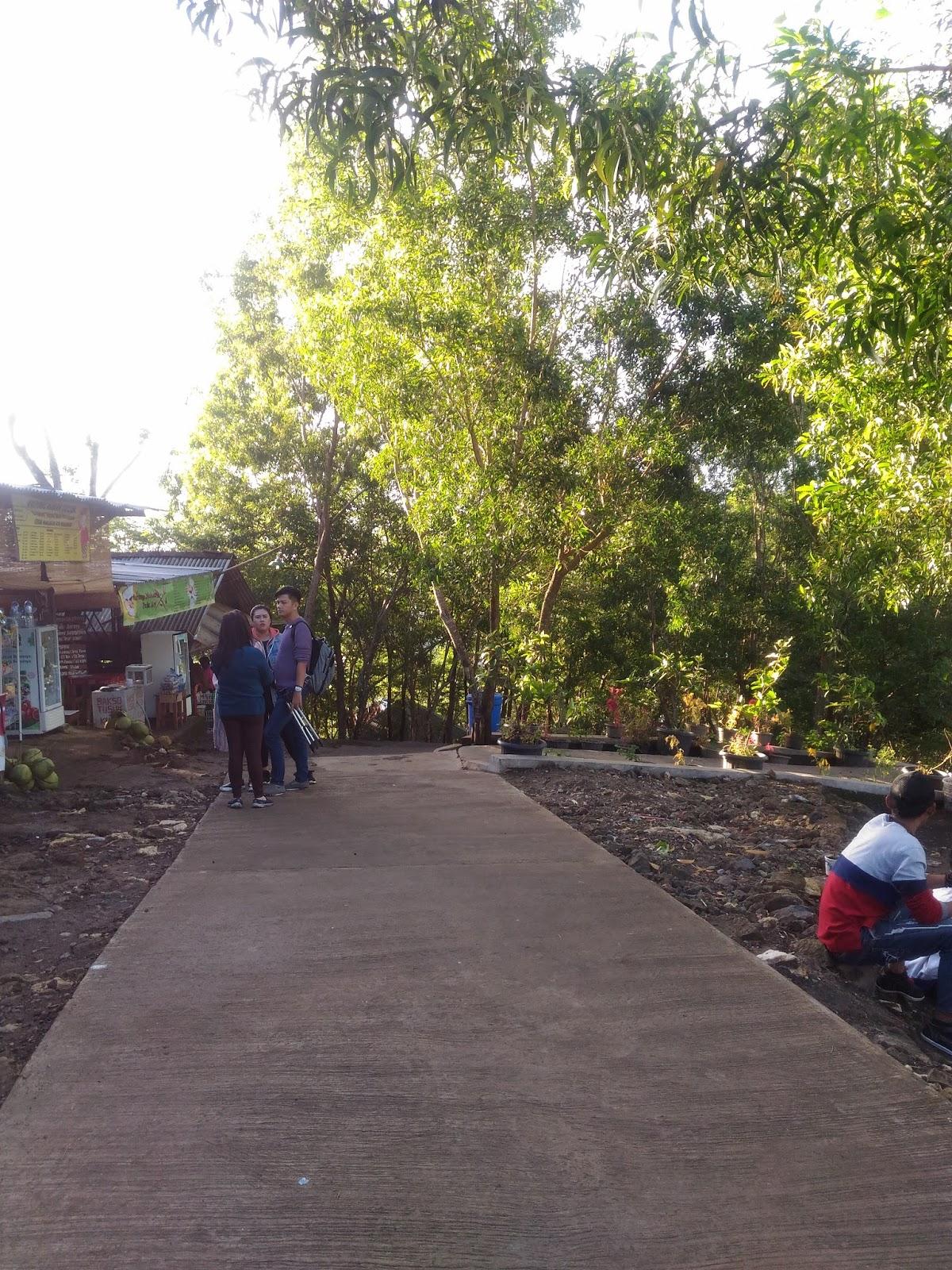 jalan setapak Puncak Kebun Buah Mangunan