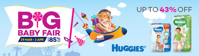 Up to 43% off Huggies products on the Lazada Malaysia Big Baby Fair