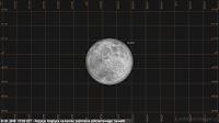 Półcieniowe zaćmienie Księżyca 31.01.2018, godz. 17:08 - położenie Księżyca nad horyzontem w końcowym momencie zjawiska w Suwałkach