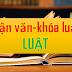 Luận án, Luận văn ngành Luật (phần 2)