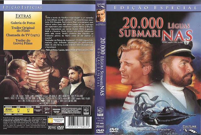 Capa DVD 20.000 LÉGUAS SUBMARINAS