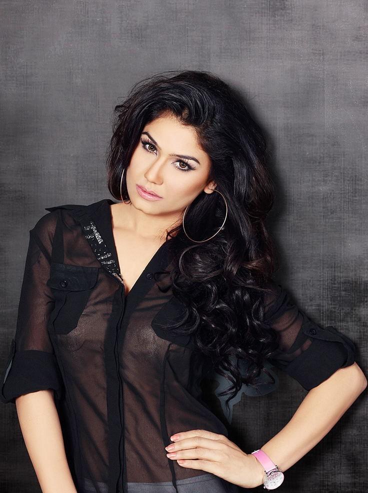 Kangana Sharma in transparent dress