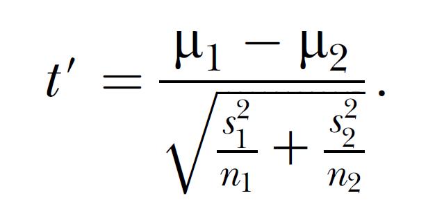 Welch-satterthwaite t-test definition | statistics dictionary.