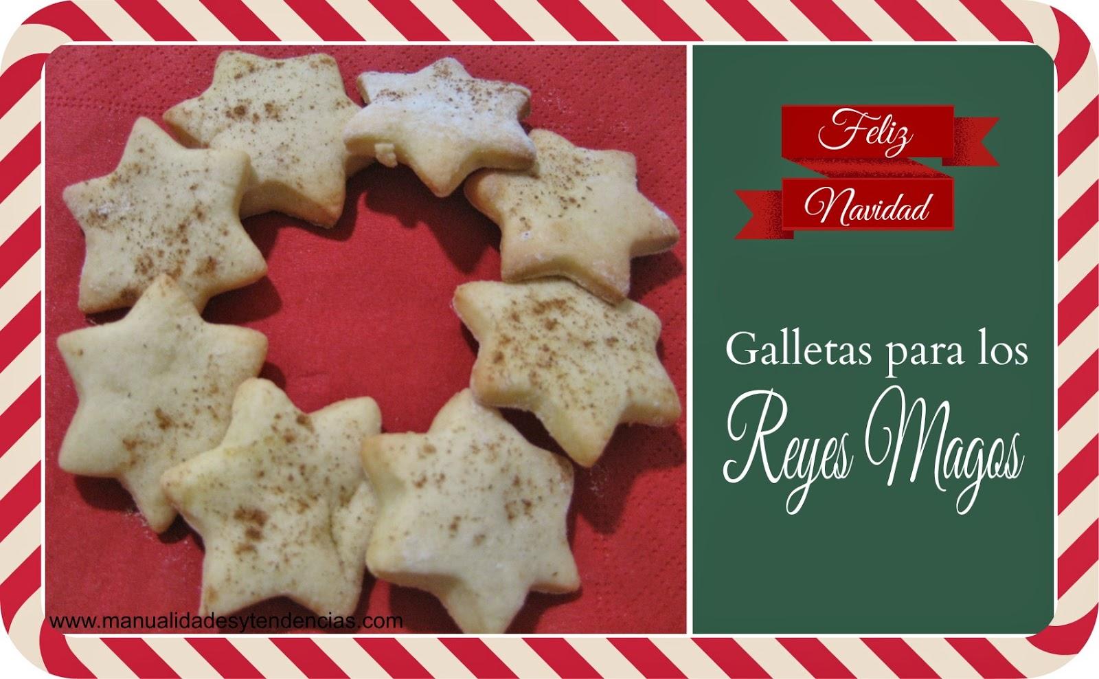 receta de galletas de canela con forma de estrella para Reyes Magos