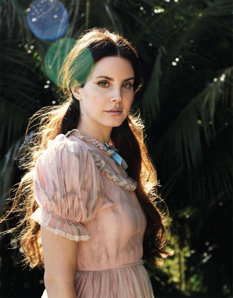 Lana Del Rey poses in this sun-drenched shot