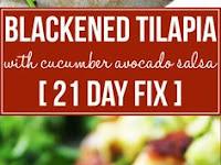 BLACKENED TILAPIA WITH CUCUMBER AVOCADO SALSA RECIPE [21 DAY FIX]