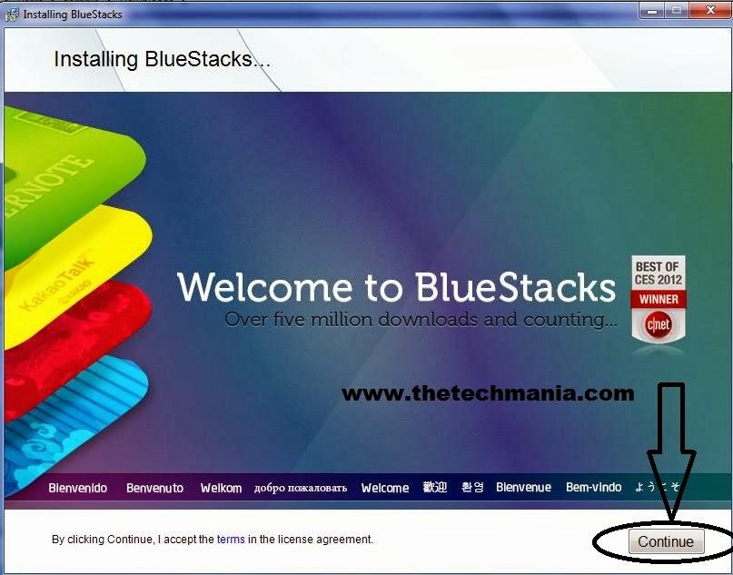 Installing Bluestack
