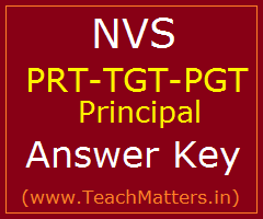 image : NVS PRT-TGT-PGT-Principal Answer Key 2017 @ TeachMatters