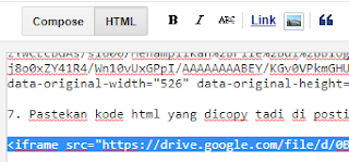 Tutorial Menampilkan File Google Drive di Blog5