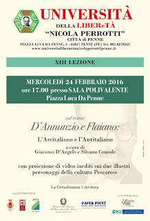D'Annunzio e Flaiano L'arcitaliano e l'antitaliano
