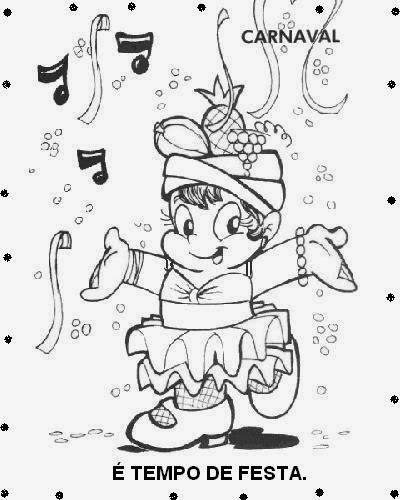 Desenhos Para Colorir E Imprimir Desenhos De Carnaval