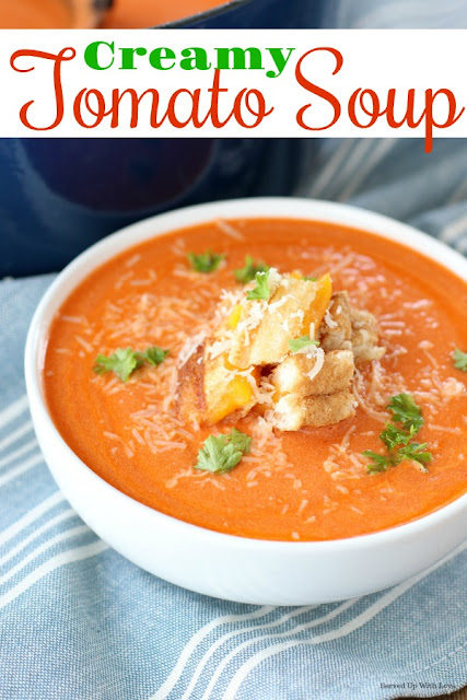 Put that canned tomato soup aside and make this grown up version. Creamy Tomato Soup is thick, creamy, and comes together in under 30 minutes.