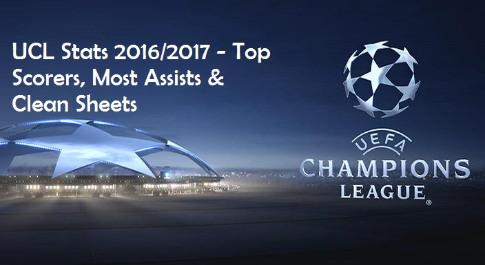 UCL Stats 2016/2017 - Top Scorers, Assists, Clean Sheets