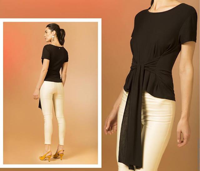 Blusas y remeras con lazos moda primavera verano 2019. Moda mujer 2019.