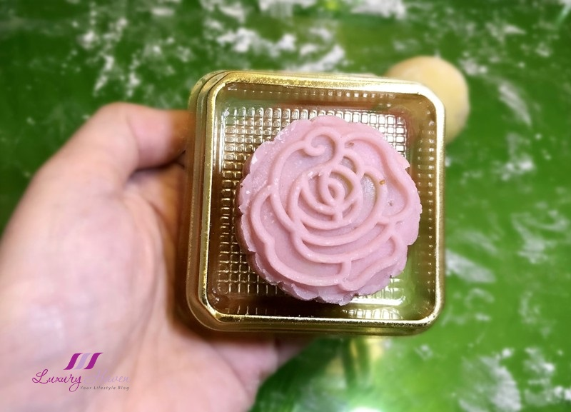 fresh strawberry snowskin mooncake with lotus paste recipe