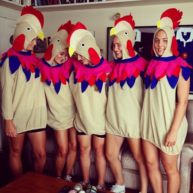 chicken girl costumes