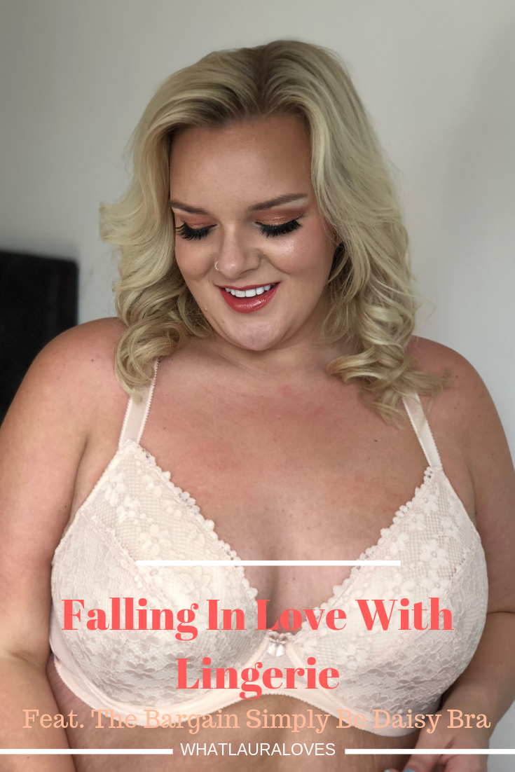 Falling In Love With Lingerie Feat. Simply Be Bargain Daisy Bra on UK Plus Size Blog WhatLauraLoves
