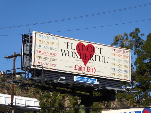 Lady Bird Flat-out wonderful FYC billboard