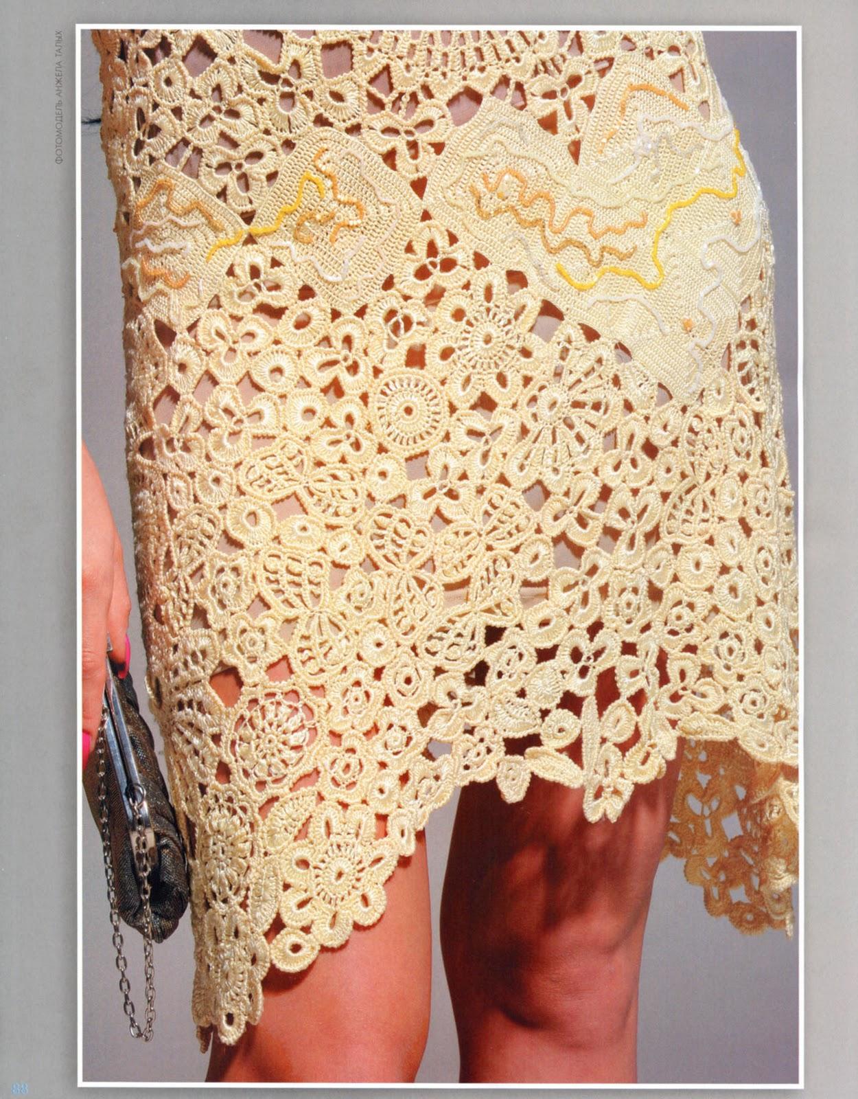 Armario Branco De Cozinha ~ muçamb u00ea artesanato Vestido em Renda Croch u00ea