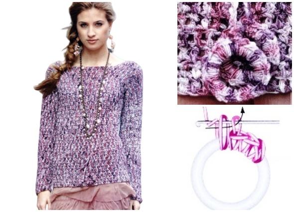 pulóver, jersey, prendas crochet, moda mujer, patrones ganchillo