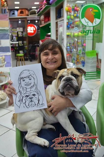 Caricaturista de eventos Marcelo lopes de Lopes e Águia Veterinária
