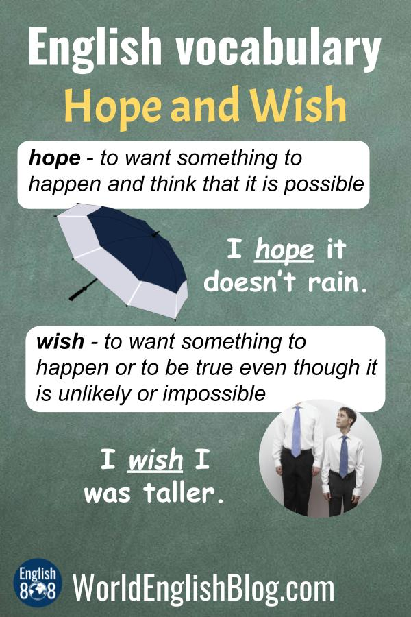 Do you know the difference between HOPE and WISH? Learn here!