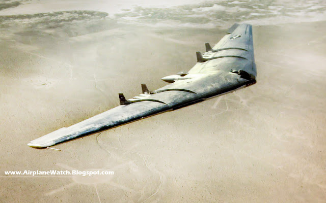 Northrop YB- 49 Flying Wing - In Air - 1949