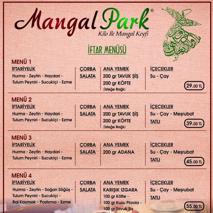 mangal park kayseri iftar menüleri