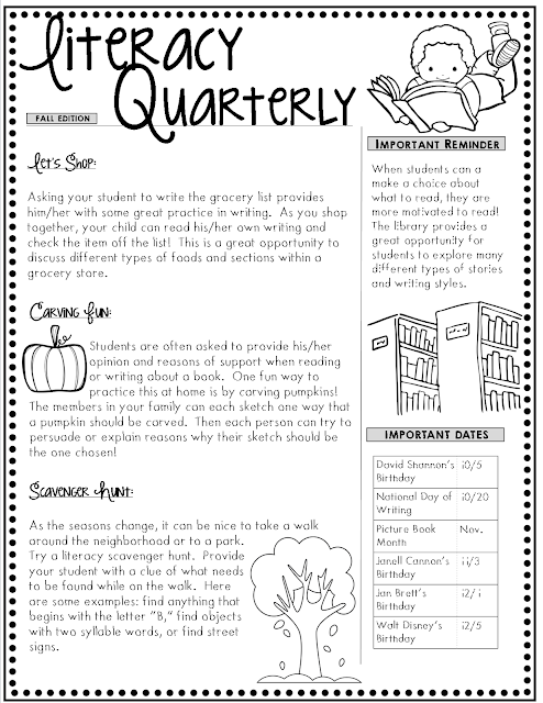 Fun literacy activities for families