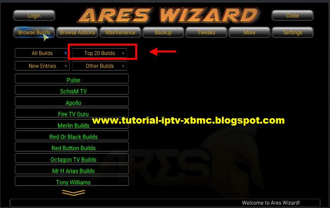 Install Ares Wizard Kodi Build