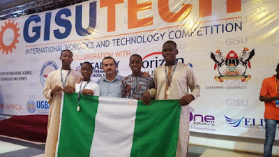 Nigerian Turkish International College students pose with medals