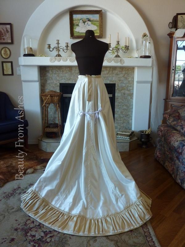 Beauty From Ashes: 1898 Wedding Skirt Complete and a Small Bustle Pad