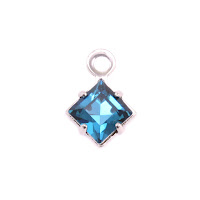 Swarovski Xilion Square Fancy Crystal (Blue Zircon - DECEMBER)