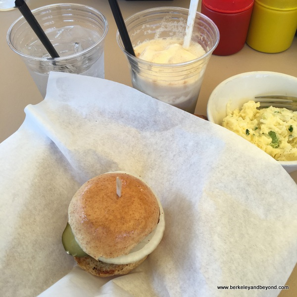 small lunch at Tyler's Burgers in Palm Springs, California