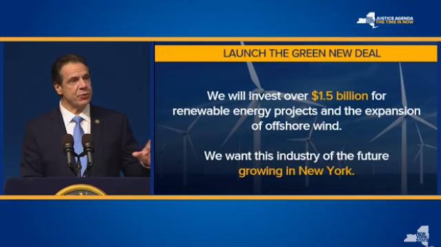 紐約州政府啟動綠色新政,規劃於2040年達成100%零碳電力